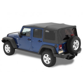 Supertop Black Twill noir convertible 4 portes Jeep Wrangler JK 07-18