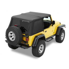 Toit souple Jeep Wrangler TJ 97-06 Treopape NX noir