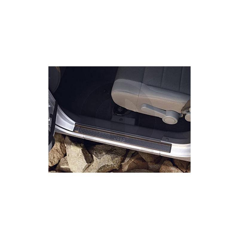 Seuil porte plastique Noir Jeep Wrangler JK 4P