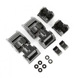 Ensemble fermeture capot, noir texturé 2018-19 Jeep Wrangler JL / JLU
