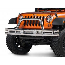 Pare choc avant double tube acier Jeep Wrangler JK