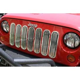enjoliveur de calandre chromé jeep JK