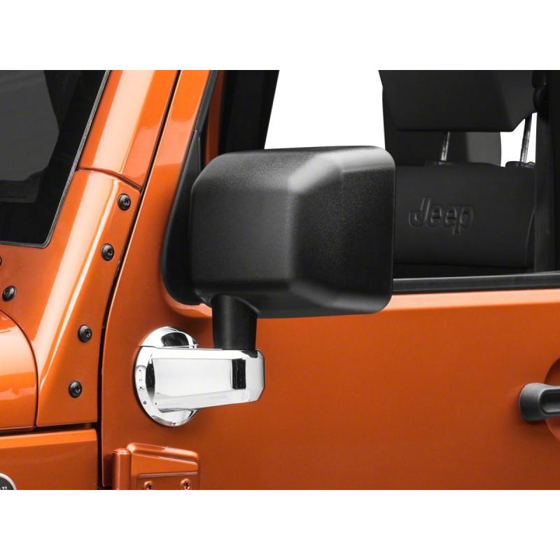 Enjoliveur support rétroviseur chrome Jeep Wrangler JK