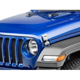 Kit de fermeture de capot argenté Jeep Wrangler JL