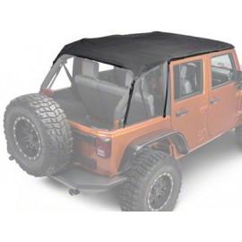 Capote bikini noire Jeep Wrangler JK 4 portes