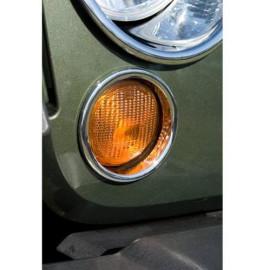 Enjoliveur cerclage de clignotant chromé (2) Jeep Wrangler JK