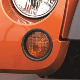 Enjoliveur cerclage de clignotant noir (2) Jeep Wrangler JK