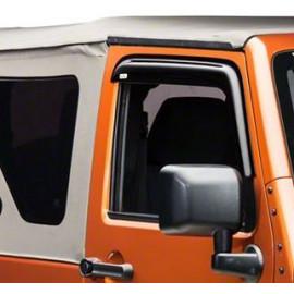 Déflecteur air fumé sur porte Jeep Wrangler JK 2P