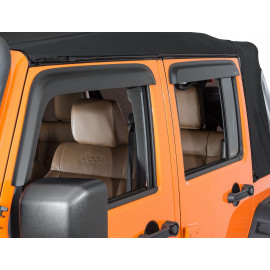 Déflecteur air porte noir mat Jeep Wrangler JK 4P