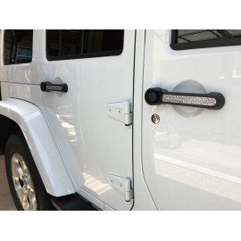 Inserts poignée blanc Jeep Wrangler JK 4P 13311.51