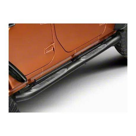 """Marche pied latéraux noirs 3"""" Jeep Wrangler JK 2007-2018 4 portes 11591.06"""