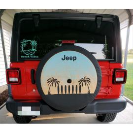"""Housse roue de secours 32"""" MOPAR Design Cali JEEP JL"""