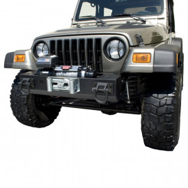 HEAVY DUTY Pare chocs avant central avec support treuil Jeep CJ CJ7 & Wrangler YJ TJ