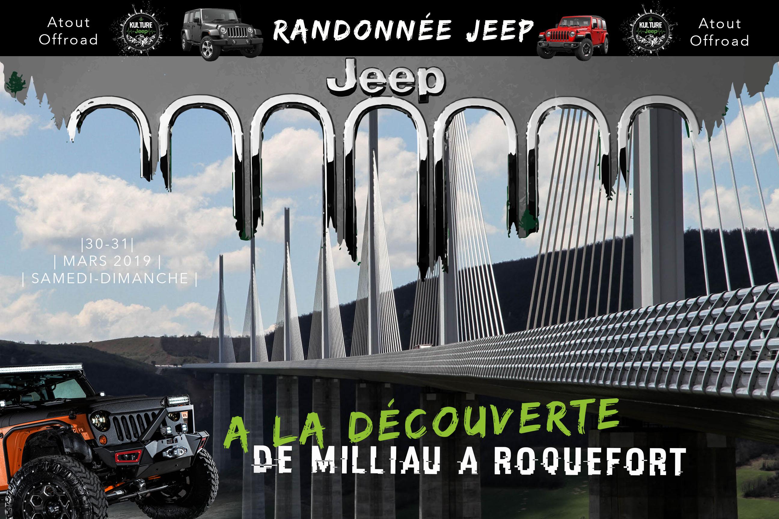 Randonnée Jeep en Aveyron
